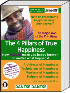 Book Cover: The 4 Pillars of Happiness: How VALUES make you happy forever, no matter what happens